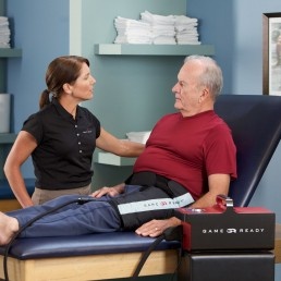 pt with patient wearing hip wrap